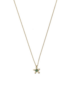 Produkt Necklace short, coffee blossom with zircon, gold-plated