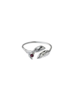 Produkt buds ring with red zircon