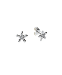 Produkt Náušnice stříbrné květy s průhledným zirkonem
