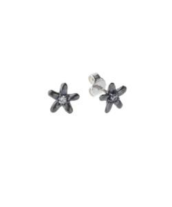 Produkt Náušnice patinované květy s průhledným zirkonem