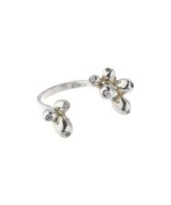 Produkt Prsten stříbrné třešně s průhlednými zirkony