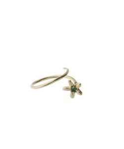 Produkt Prsten klíčící žlutý květ se zeleným zirkonem