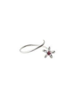 Produkt Sprout blossom ring with red zircon
