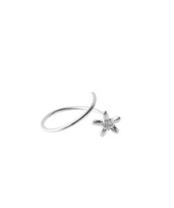 Produkt Prsten klíčící stříbrný květ s průhledným zirkonem
