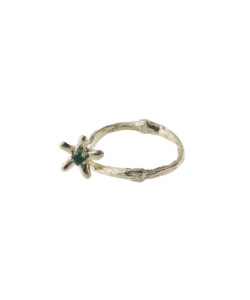Produkt Ring blossom wood with green zircon, yellow