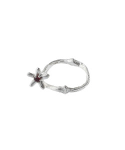 Produkt Ring blossom wood with red zircon