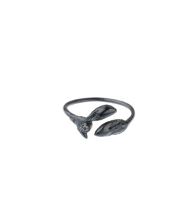 Produkt Buds ring, patinated, with zircon